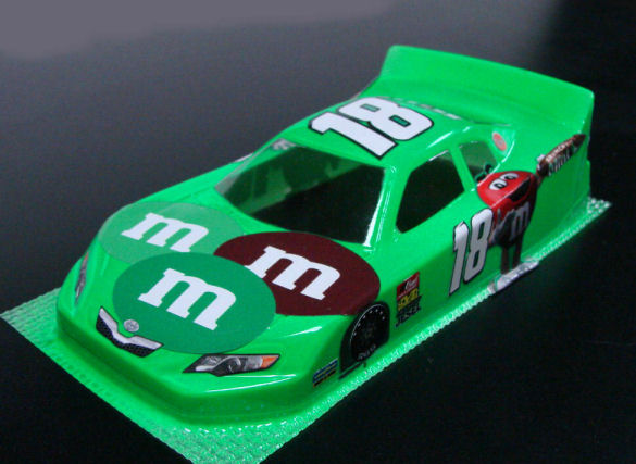 #18 M&M's - Green Nascar Body - less Interior
