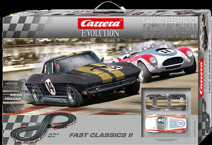 Carrera Evolution Fast Classics II 1/32 Slot Car Race Set