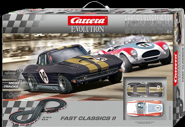 Carrera Evolution Fast Classics II 1/32 Slot Car Race Set