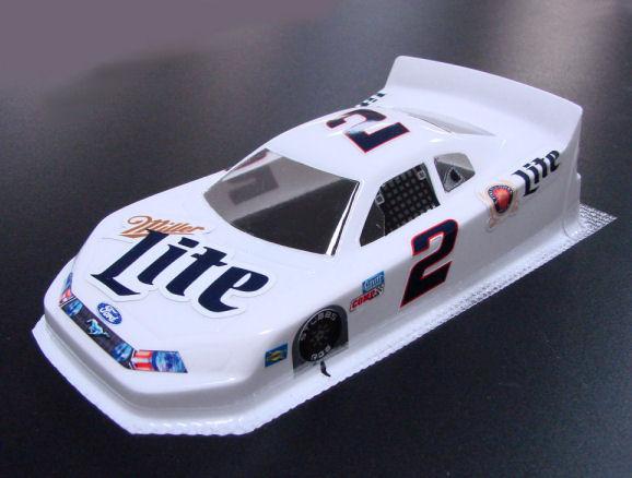 #2 Miller Lite - White Nascar Body - less Interior