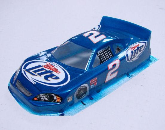 #2 Miller Lite - Blue Nascar Body - less Interior