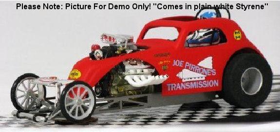 JDS Fiat Body (white styrene) Drag Body