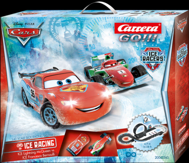 "Carrera GO ""Disney/Pixar - ICE Racing"" 1/43 Slot Car Race Set-"