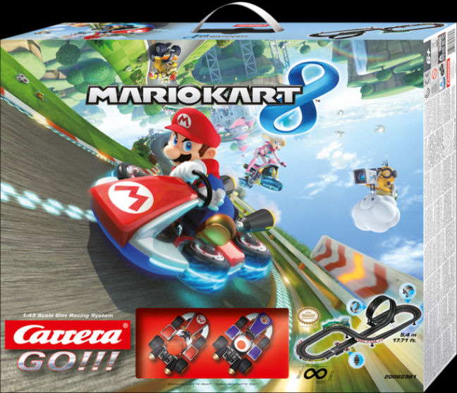"Carrera GO ""Nintendo Mario Kart 8"" 1/43 Slot Car Race Set-"