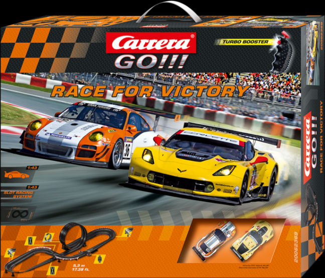 "Carrera GO ""Race for Victory"" 1/43 Slot Car Race Set-"