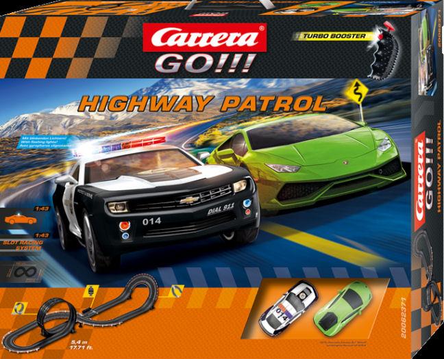 """Carrera GO """"Highway Patrol"""" 1/43 Slot Car Race Set-"""