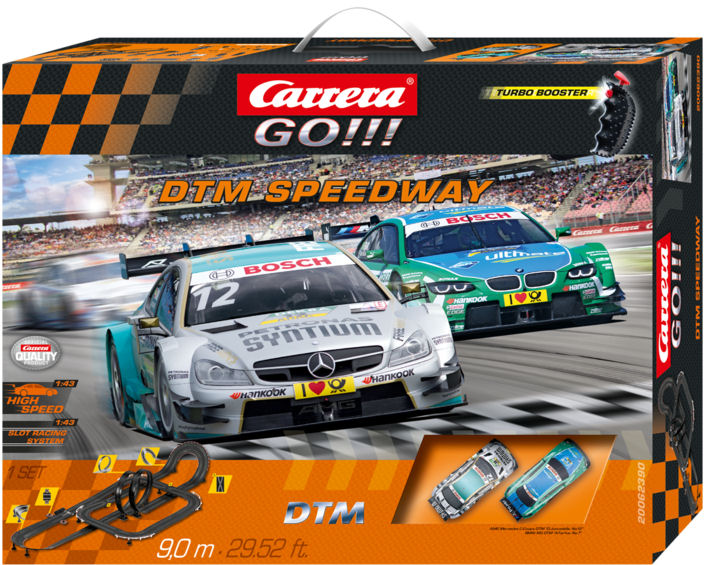 "Carrera GO ""DTM Speedway"" 1/43 Slot Car Race Set - Over 29' Running length!"