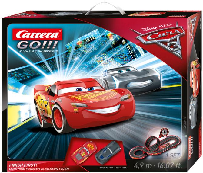 "Carrera GO ""Disney Pixar Cars 3 - Finish First!"" 1/43 Slot Car Race Set"