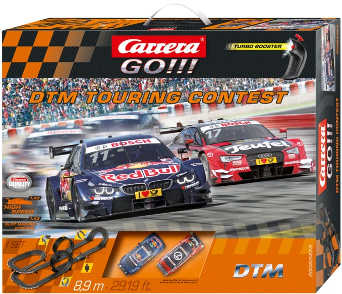"Carrera GO ""DTM Touring Contest"" 1/43 Slot Car Race Set"