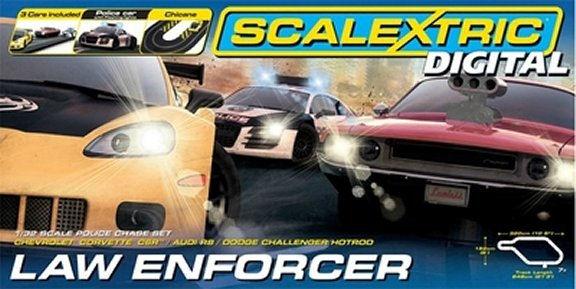 Scalextric Law Enforcer Digital 1/32 Slot Car Race Set-