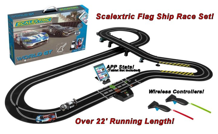 #C1403T Scalextric World GT ARC Air 1/32 Slot Car Race Set - 12 Multiple tracks - Free Shipping