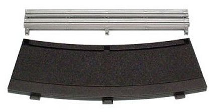 Scalextric R4 - Inner Black Borders & Barriers 22.5° - (4 pieces)-