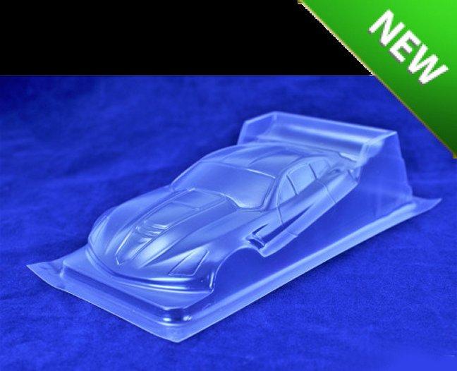 New! Red Fox Corvette DTM Clear Body - .007