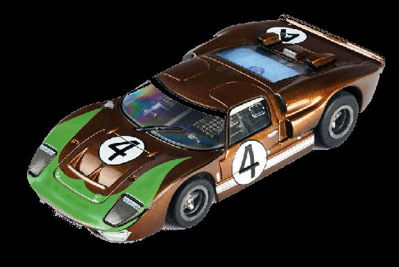 "AFX ""GT40 4 Donohue Collector Series w/Clear Windows"" Mega-G HO Slot Car"