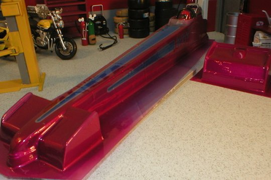 WRP Top Fuel Rail w/Wing Clear Drag Body