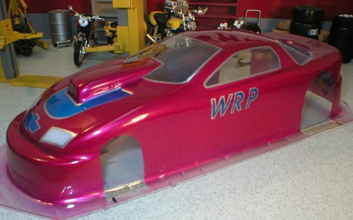 "WRP ""96 Camaro Pro Stock Clear Drag Body"