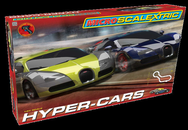 Micro Scalextric Hyper-Cars 1/64 Slot Car Set-