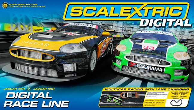 Scalextric Digital Race Line Slot Car Race Set-