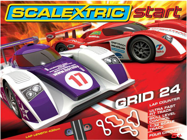 "Scalextric Grid 24 1/32 ""Start Race Set"" - *4 Circuits*-"