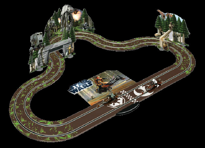 "Scalextric Battle of Endor Star Wars 1/32 ""Start Race Set""-"
