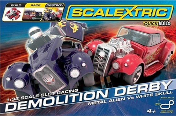 Scalextric Demolition Derby 1/32 Slot Car Race Set <br>FREE SHIPPING!-
