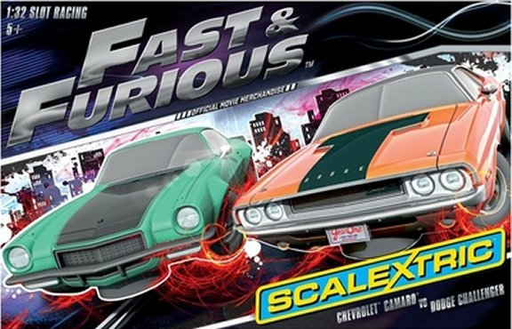Scalextric Fast & Furious 1/32 Slot Car Race Set<br>FREE SHIPPING!-