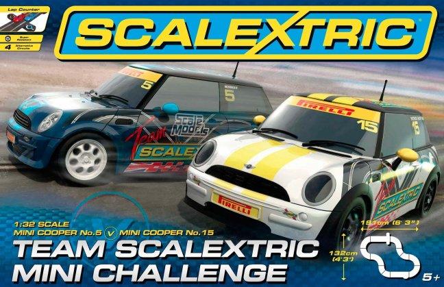 Scalextric Mini Challenge 1/32 Race Set - *4 Circuits*-