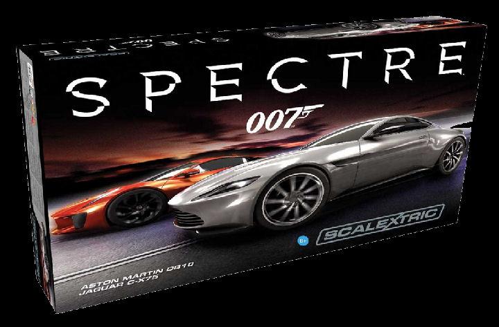 """Scalextric """"James Bond Spectre"""" 1/32 Slot Car Race Set-"""