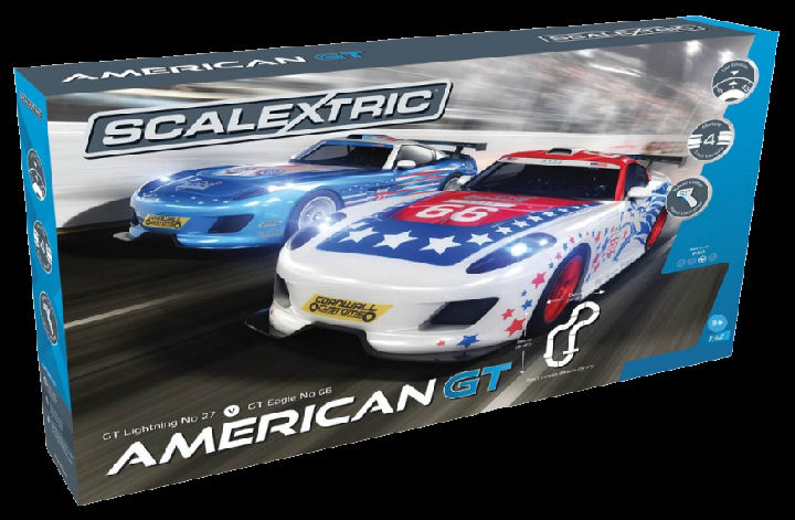 #C1361T Scalextric American GT 1/32 Race Set - 4 Multiple tracks