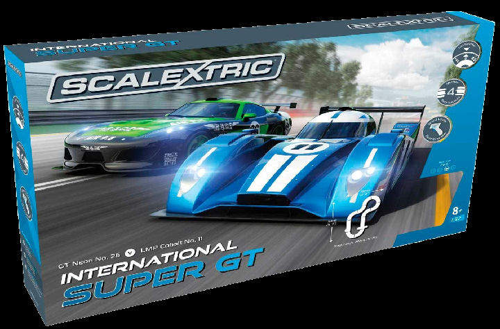 Scalextric International Super GT 1/32 Race Set - 4 Multiple tracks