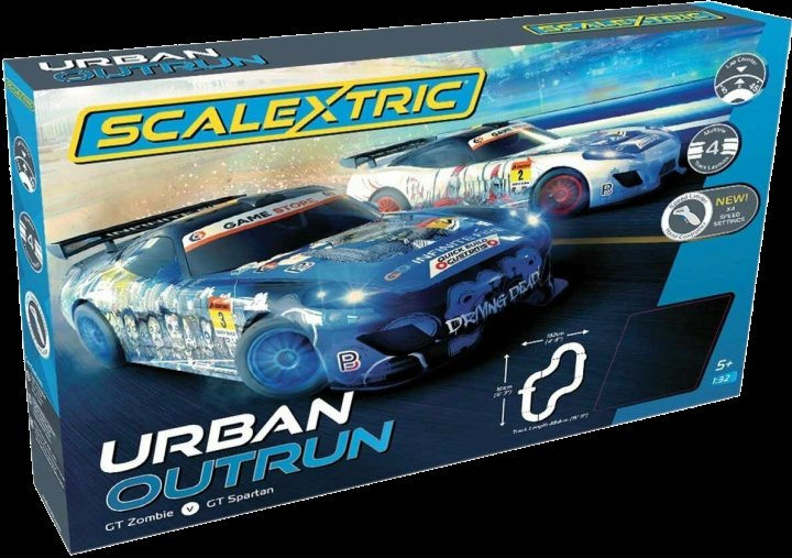 #C1379T Scalextric Urban Outrun 1/32 Slot Car Race Set - 4 Multiple tracks