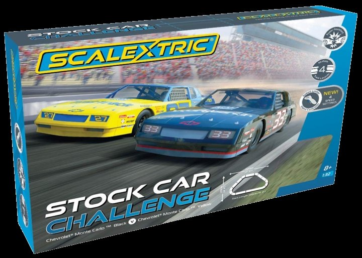 #C1383T Scalextric Stock Car Challenge 1/32 Slot Car Race Set-4 Multiple tracks - FREE Shipping!