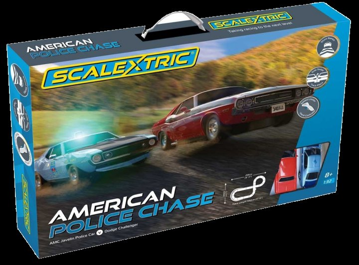 #C1405T Scalextric Police Chase 1/32 Slot Car Race Set - Stunt Tracks included! - Free Shipping!