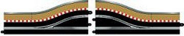 Scalextric Digital Pitlane Righthand with borders & barriers-