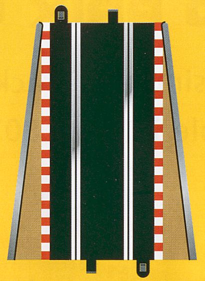 Scalextric Lead in/out Tan Borders & Barriers <br>( 2 pieces )-