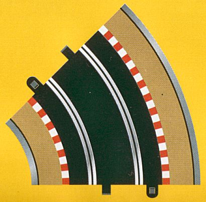 Scalextric R2 Standard Curve 45 ° -(2 pieces)-