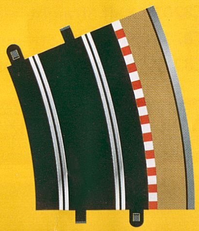 Scalextric R4 Outer-Outer Curve 22.5° -(2 Pieces)-