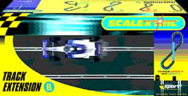 """Scalextric Track Extension """"Circuit 2 to 3"""" Pack B-"""