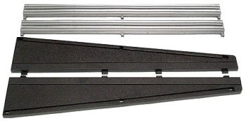 Scalextric Lead in/out Black Borders & Barriers <br>( 2 pieces )