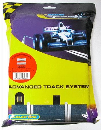 Scalextric R4 - Inner Tan Borders & Barriers 22.5° <br>( 4 pieces )-