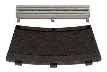 Scalextric R3 - Inner Black Borders & Barriers 22.5° <br>( 4 pieces )-
