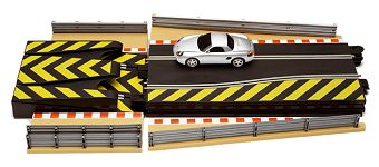 Scalextric Track Accessory 3 -Leap Ramps, w/ Porsche +misc.-