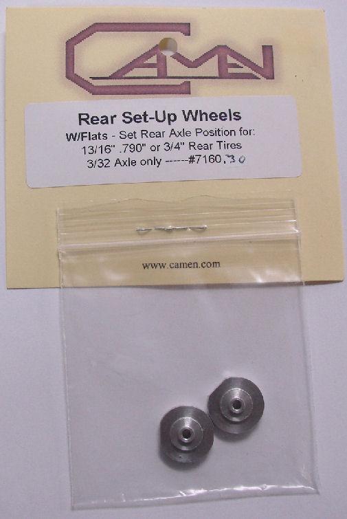 "Camen Jig Wheels w/Flats for 3/4, .790"" & 13/16""  rear tires"