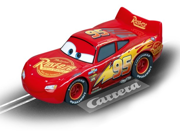 Carrera Disney/Pixar NEON Lightning McQueen 1/43 Scale Slot Car-