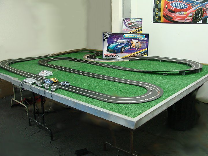 Scalextric Custom Digital Slot Car Race Set w/ 3 Digital Cars!-scalextric, scalextric digital, race set
