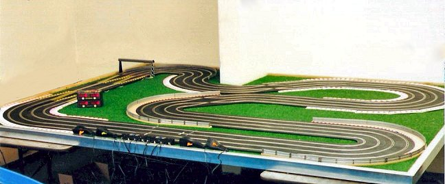 Scalextric &quot;Custom 4 Lane Road Course&quot; <br>Sport Slot Car Track-