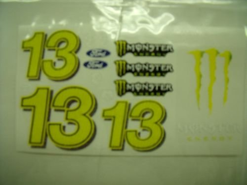 "Go Fast ""13 Monster Energy"" Vinyl Decal"