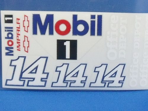 """Go Fast """"14 Mobil Chevy"""" Vinyl Decal-"""