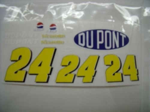 "Go Fast ""24 Dupont Chevy"" Vinyl Decal"