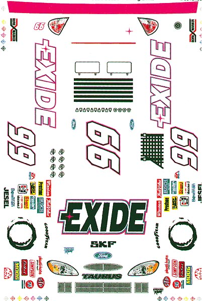 Grafix 99 Exide Y2K Decal-